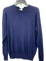 Peter Millar Mens Crown Soft Premium Wool Silk Crew Neck Blue Medium Sweater NWT