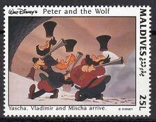 TIMBRE NEUF  WALT DISNEY  PETER AND THE WOLF  YASHA VLADIMIR ET MISCHA