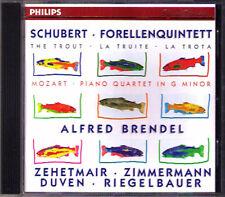 Alfred BRENDEL: SCHUBERT Trout Quintet Forellenquintett MOZART Thomas Zehetmair