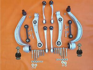 FRONT SUSPENSION KIT SET ARMS WISHBONE Audi A4 B8 A5 8TA 8T3 Q5 8R 2009- +bolts+