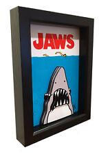Jaws Movie Poster Horror Decor 3D Art Shark Artwork Print Collector Spielberg