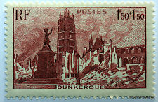 FRANCE 1945, timbre 744, ENTRAIDE DUNKERQUE PLACE JEAN BART , neuf** ACA3