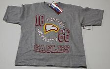 Withrop University Eagles Team Grey Graphic T Shirt  Youth Large 14-16