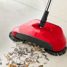 Hand Push Sweeper Stainless Steel Push Type Magic Broom Dustpan Cleaning Handle