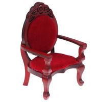 1:12 Dollhouse Miniature Mini Carved Peach Shape Chair Furniture Accessoriey3