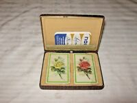 A Cased Twin Set of Unopened Floral Lady Nor Playing Cards by Northbrook U.S.