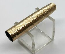 Parker 51 Customized Hammered Fountain Pen CAP Part in Gold Filled (#AR2189)