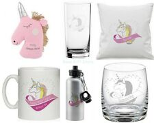 PERSONALISED Pretty UNICORN HEART Gift Presents for Her BIRTHDAY Ideas Christmas