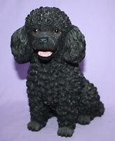 Black Sitting Poodle Statue ~ Danbury Mint ~ EUC