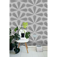 Classic Removable wallpaper black and gray wall mural design
