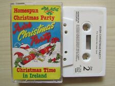 IRISH CHRISTMAS PARTY CASSETTE, CHRISTMAS TIME IN IRELAND 1976 HOMESPUN, TESTED.