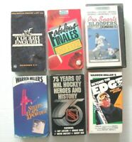 SPORTS VHS Lot of 6 Videotapes: Skiing, Hockey, WWF Wrestling, Bloopers, Etc.