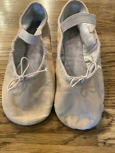 BLOCH Girls Pink Soft Leather Ballet Dance Shies Slippers, Size 3 E