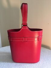 Red Leather Wine Tote by Lilo of Spain NEW