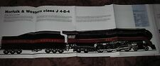 HUGE NORFOLK & WESTERN CLASS J 4-8-4 STEAM LOCOMOTIVE POSTER print engine train