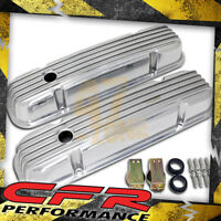Pontiac 326-455 Polished Aluminum Valve Covers - Finned