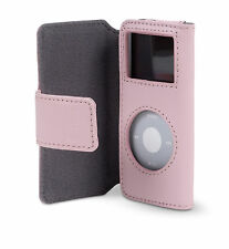 Belkin Leather Folio Case + Lanyard for Ipod Nano 1G 2G 1st 2nd Gen Pink F8Z058