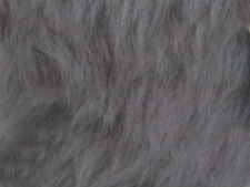 Silver Plain Faux Fur Fabric Short Hair 150cm Wide SOLD BY THE METRE