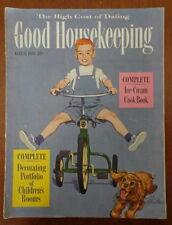 GOOD HOUSEKEEPING magazine 1953 ALEX ROSS-Austin Briggs-COKE-Ice Cream COOKBOOK