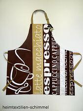 STUCO Küchenschürze Schürze Kochschürze Grillschürze ESPRESSO Küchenzubehör NEU