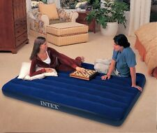 Genuine INTEX  Queen Inflatable Camping Quality Air Mattress Bed Downy Classic