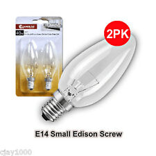 12 x 40w Clear Candle Chandelier Light Bulbs Globes Lamp E14 Screw