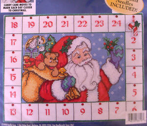Bucilla ADVENT CALENDAR Counted Cross Stitch Kit,COUNTDOWN TO CHRISTMAS,83816