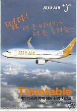 Airline Timetable - Jeju Air - 17/11/08 (Korea) - B737 cover - S