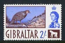 Gibraltar 1960-2 QEII. 2/- 2s chocolate & ultramarine. Mint. VLH. Og.