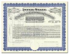 Inter-State Car Trust Equipment Company Stock Certificate