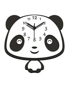 Panda Wall Clock Art Unique Animal Swinging Body Pendulum Bedroom Home Decor .