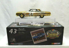 RICHARD PETTY #43 SIGNED 1964 PLYMOUTH  GOLD CHROME 50TH ANNIV......(A33)