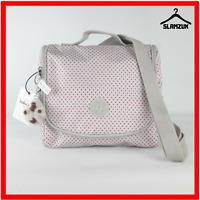 Kipling Kichirou Insulated Lunch Bag Tote Crossbody Shoulder Bag w Monkey Polka