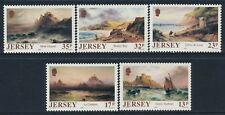 1989 JERSEY PAINTINGS BY S. L. KILPACK SET OF 5 FINE MINT MNH