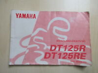 Yamaha Dt 125 R DT125RE Manual Log Book 3MB-28199-G2