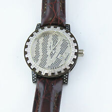 NYJEWEL Brand New Techno Mania Joe Rodeo Men Zebra 5ct Diamond Watch Great Gift!