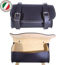 BIKE BLACK SADDLE BAG VINTAGE SEAT PACK TAIL STRAP CITY ROAD CYCLE SYNT. LEATHER
