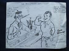 Original WALT DISNEY STUDIO Drawing - SIGNED by Animator JACK KINNEY