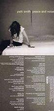 """Patti Smith """"Peace and noise"""" Zehn Songs! 1997! Rock Progresivo! A estrenar CD"""