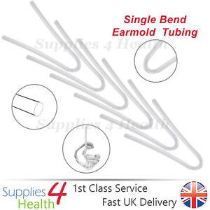 Hearing Aid Tubes BENT Bend BTE Earmold Tube Ear Mold Tubing  x6 x12 x18- CLEAR