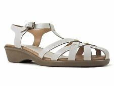 Easy Spirit Women's Ronnie Sandals White Leather Size 9 Wide