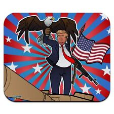 Patriotic Donald Trump with Gun Flag Low Profile Thin Mouse Pad Mousepad