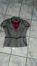 """Ladies """"Papaya"""" Grey Short Sleeved Jacket with Belt (Size 10)"""