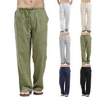 Casual Mens Baggy Harem Pants Linen Beach Summer Hippie Yoga Trousers Plus Size
