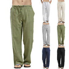 Mens Summer Harem Yoga Long Pants Casual Hippie Long Baggy Trousers Plus Size
