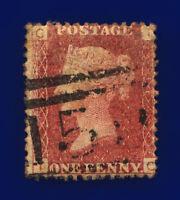 1872 SG43 1d Red Plate 164 TC Misperf Glasgow 159 Uncut Perf SW1 Clear Pl# cngh