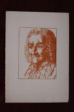 ✒ Pierre Eugène Vibert - Portrait de VOLTAIRE Maîtres du livre Papier ARCHES