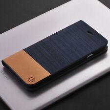 For Xiaomi Redmi 4A Note 4X Flip Wallet Leather Case Denim Canvas+Rubber Cover