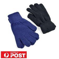 Knitted Winter Unisex Women Men Gloves Warm Adult Full Finger Acrylic Mittens AU