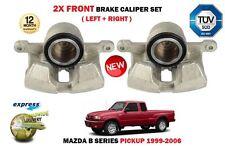 Para Mazda B Serie Pickup 2.5D 2.5TD 1999-2006 2X Delantero Izquierda + Derecha Pinza De Freno